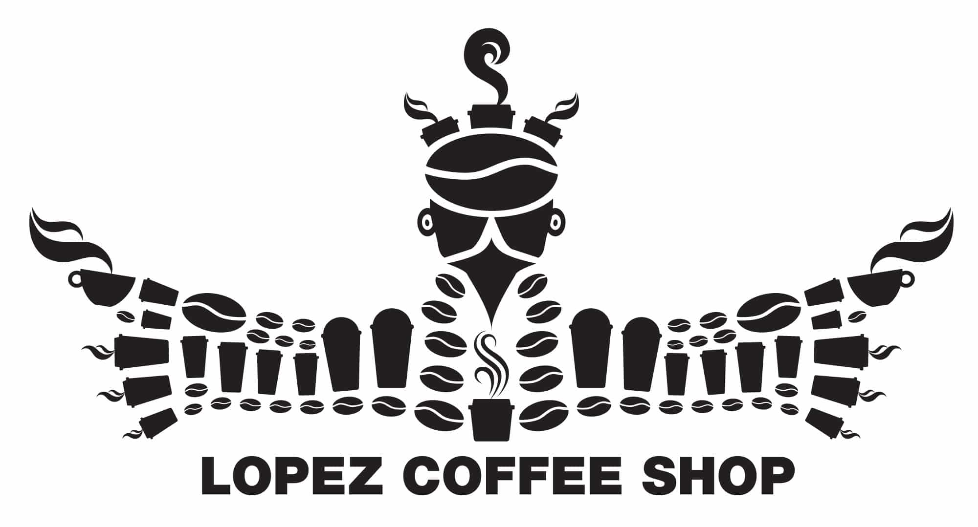 Giant is Lopez Coffee Shop Logo