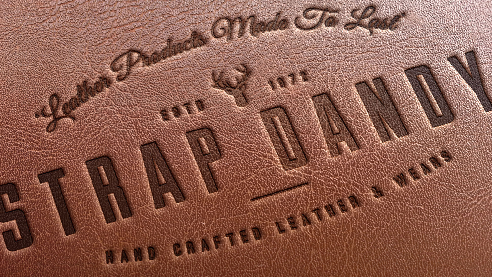 strap dandy leather stamp cover