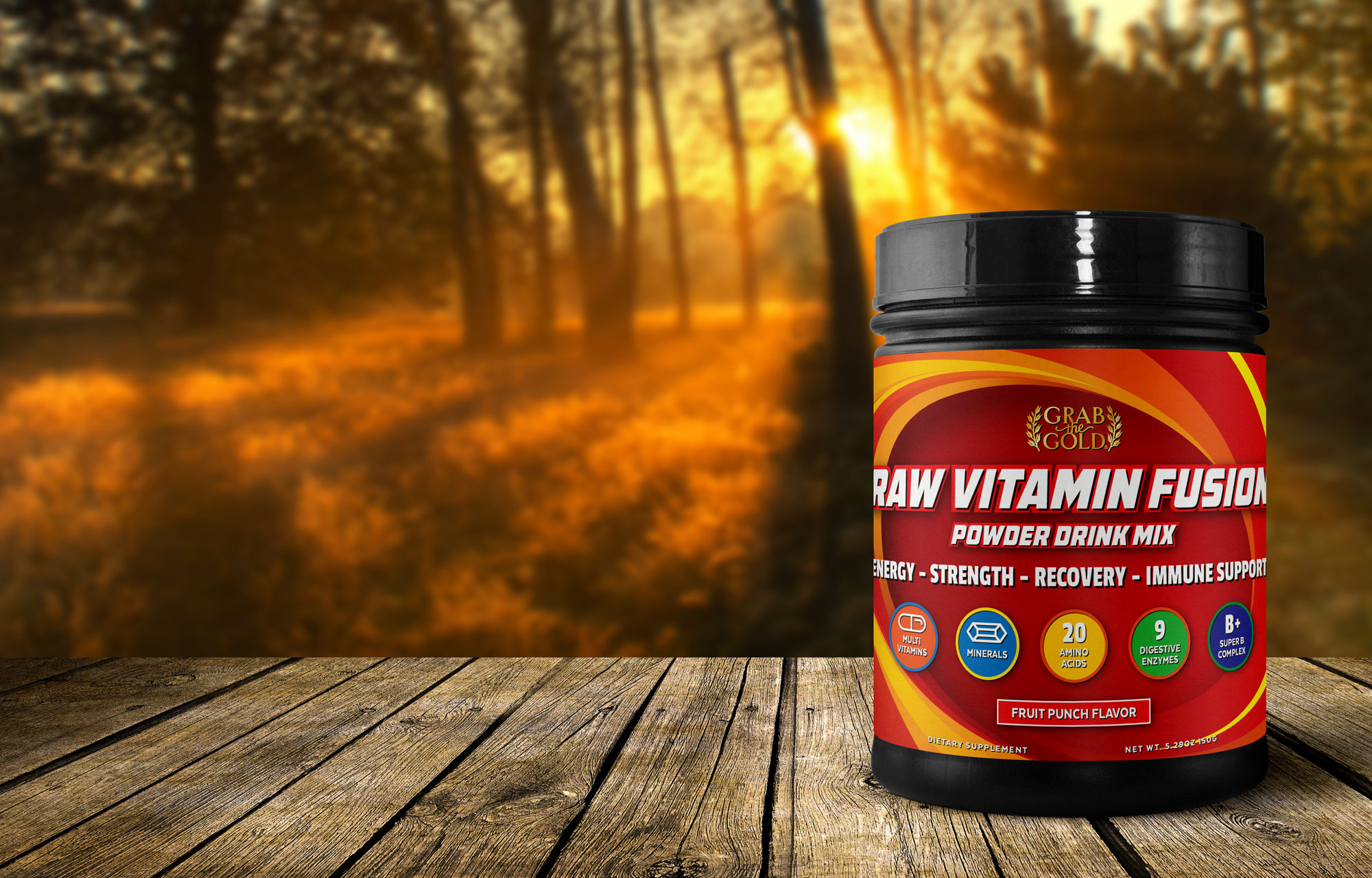 Grab The Gold Raw Vitamin Fusion Bottle Image 08.17 r1