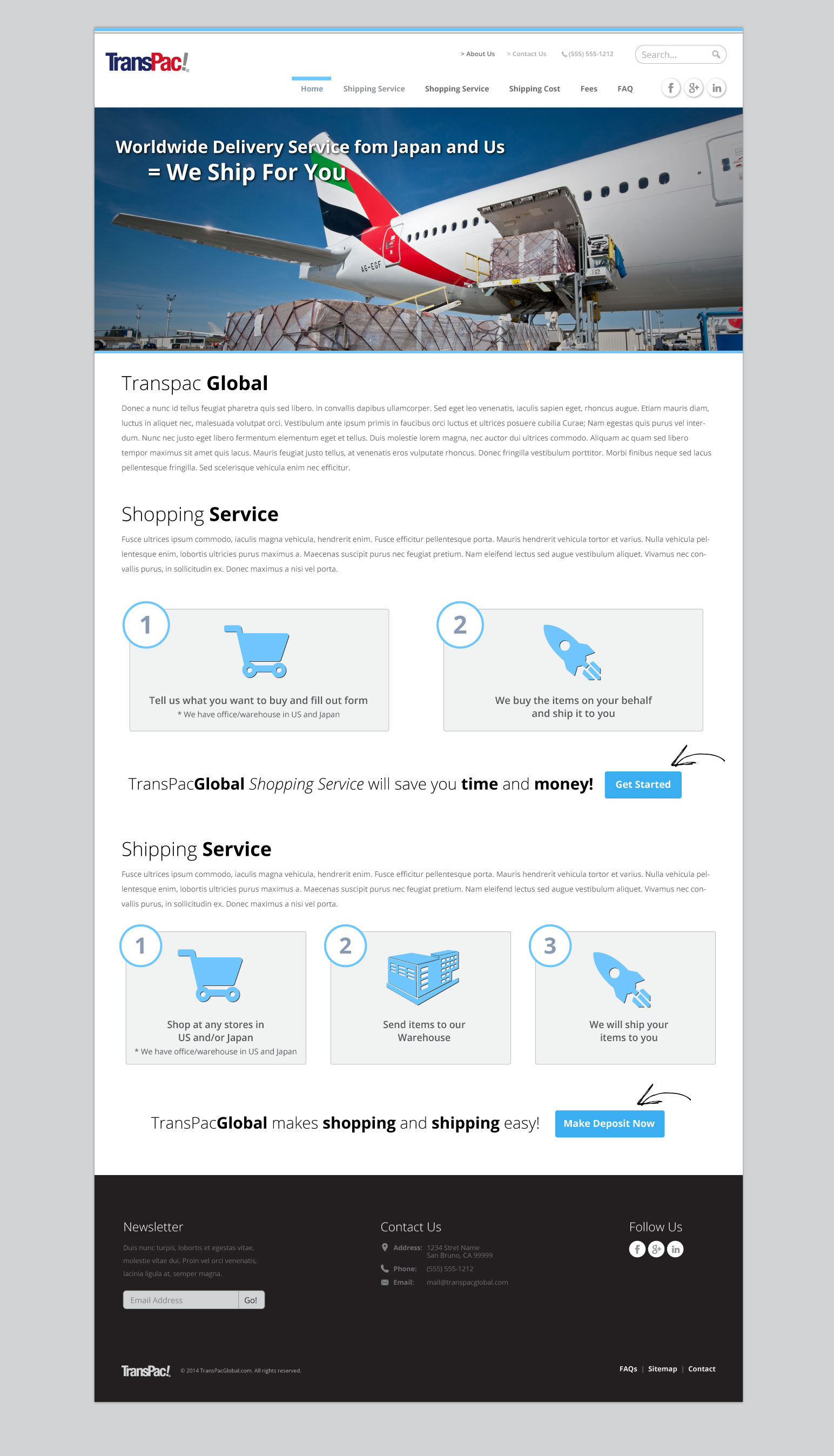 Transpac Global Home Pages Changes 1