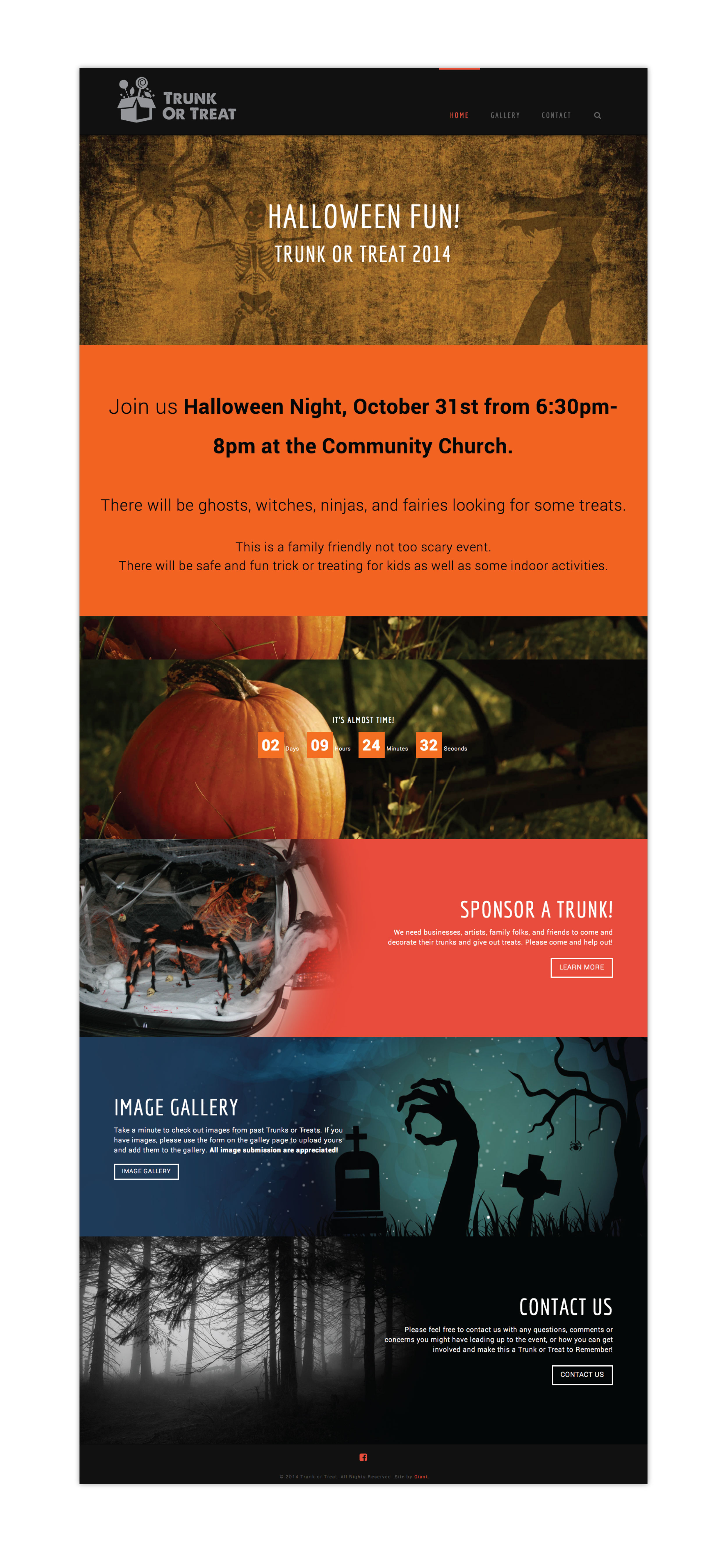Trunk Or Treat Website Screens 1