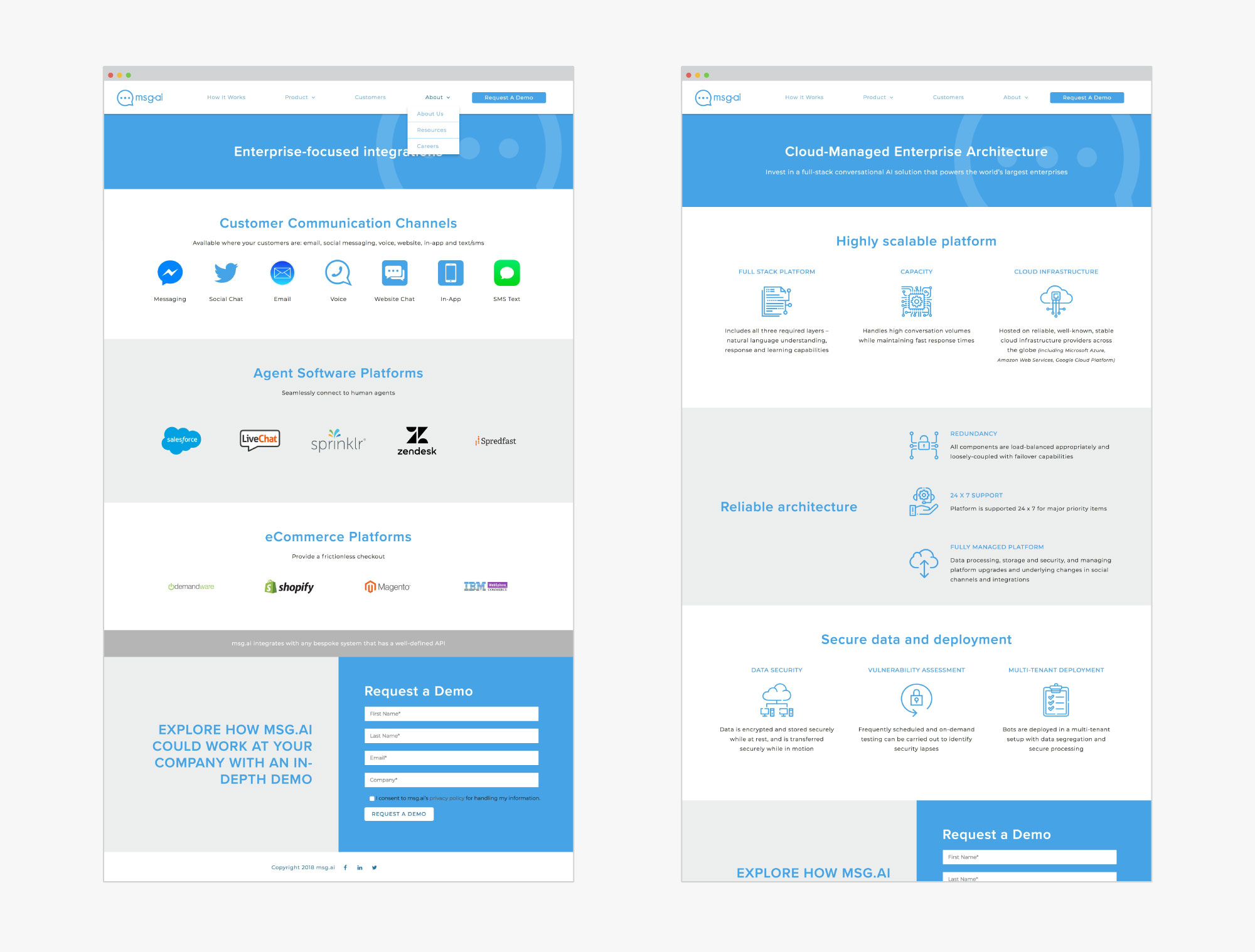 giant is msg ai website samples pages