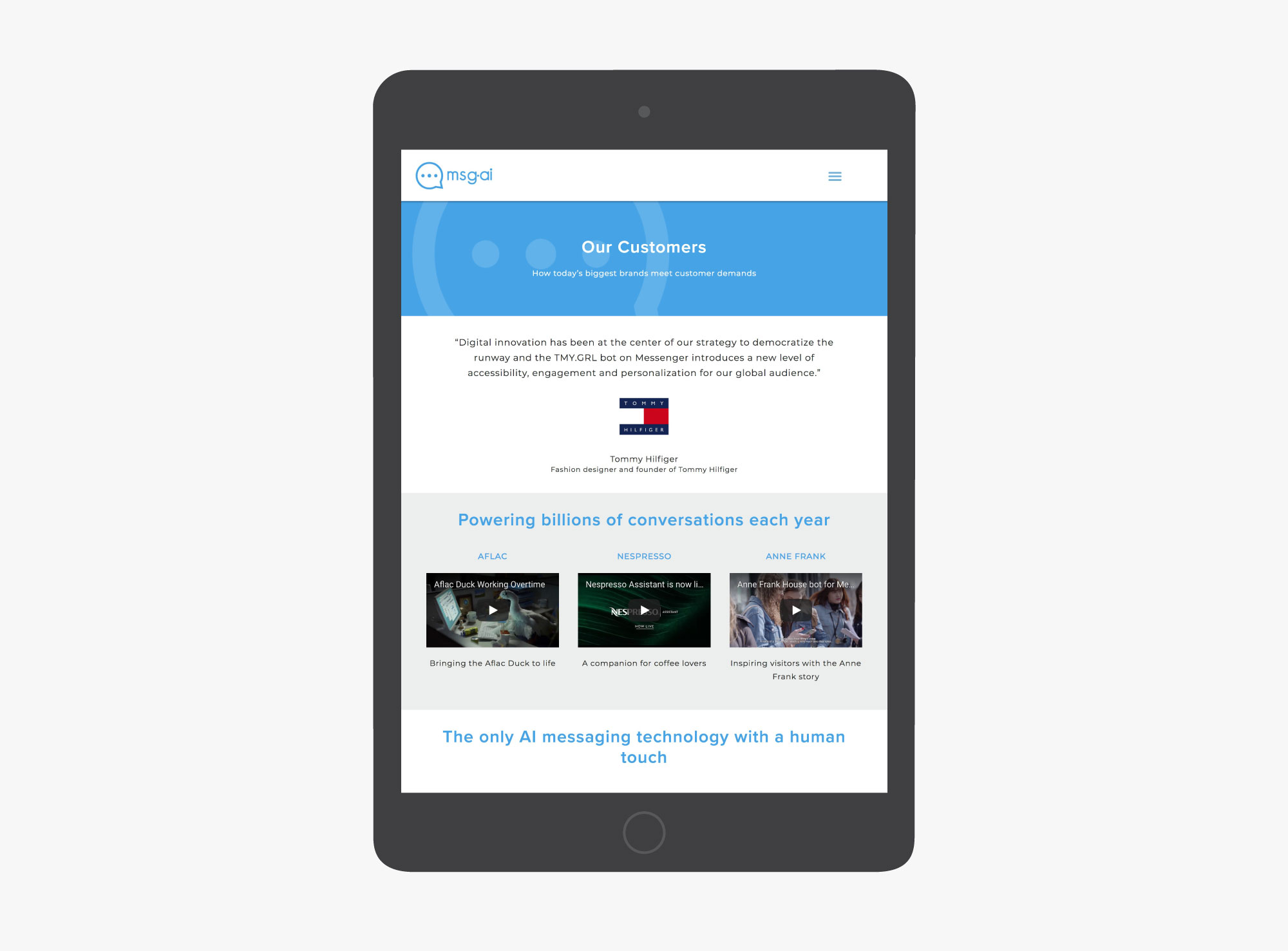 giant is msg ai website samples tablet