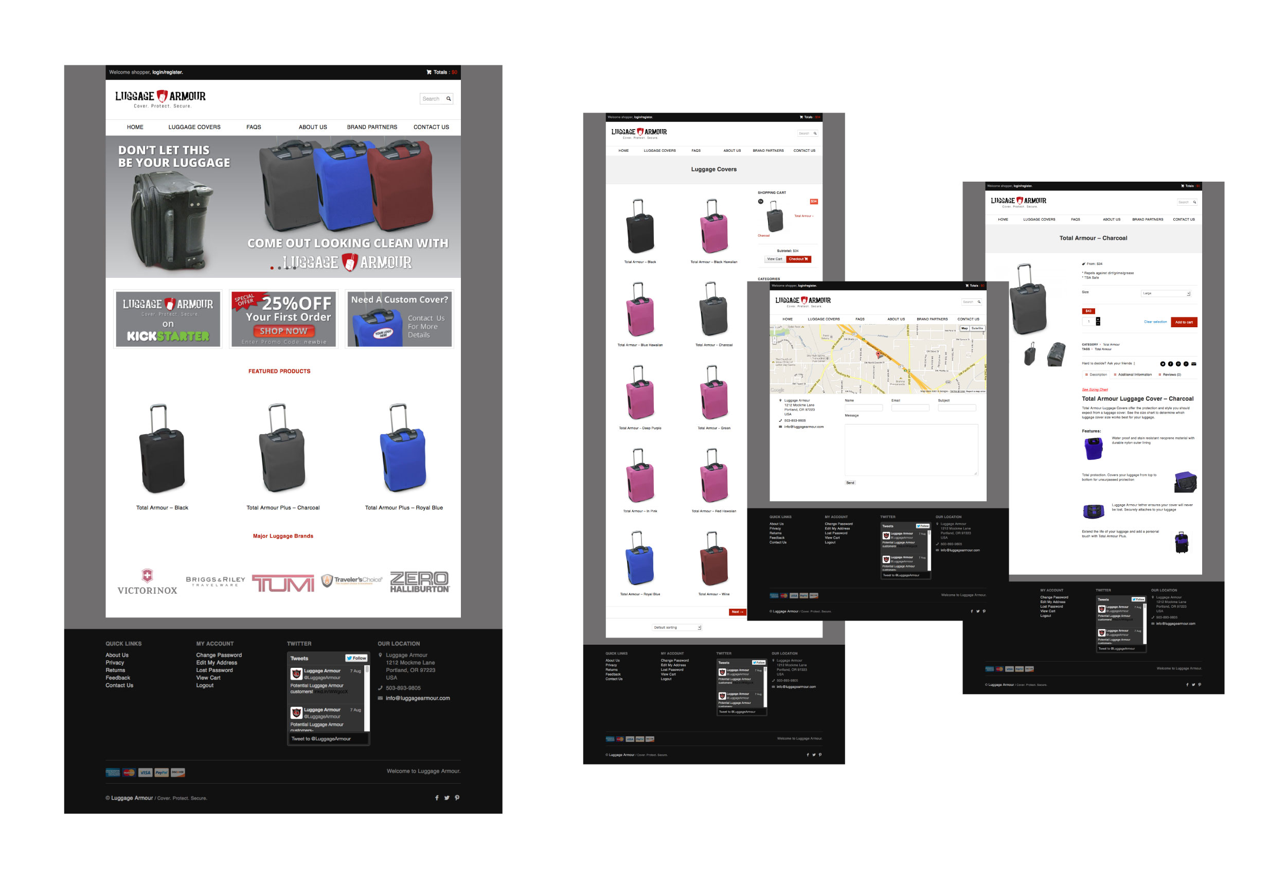 luggage armor website pages